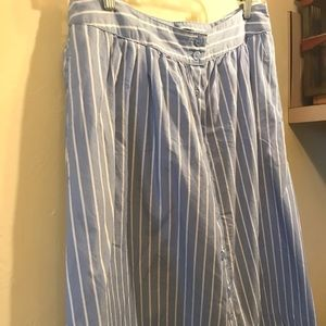 Who What Wear Skirts - Striped a-line midi skirt
